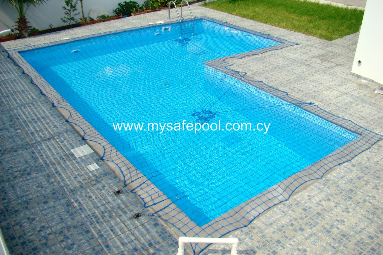 Safety nets cyprus swimming pool safety fences safety nets and pool covers for Swimming pool safety net covers